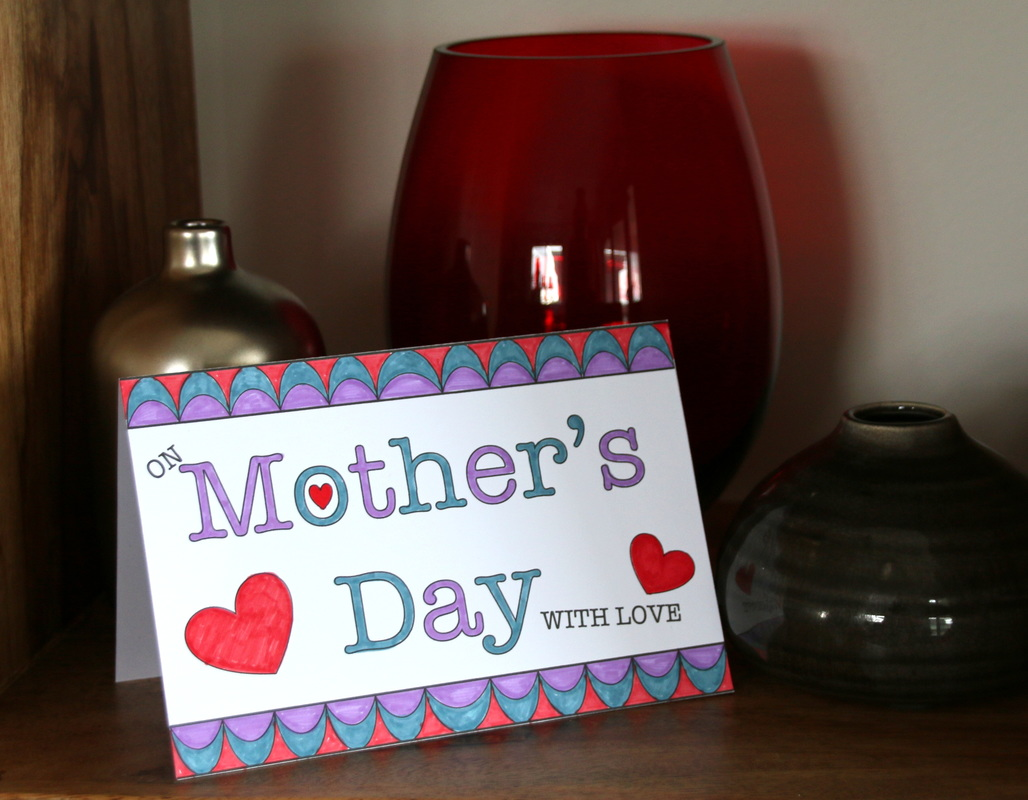 printable template for mother u0026 39 s day card kids craft