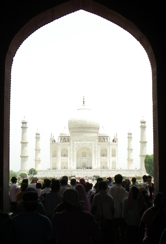 The Taj Mahal, Agra, India. View from within the Entrance.