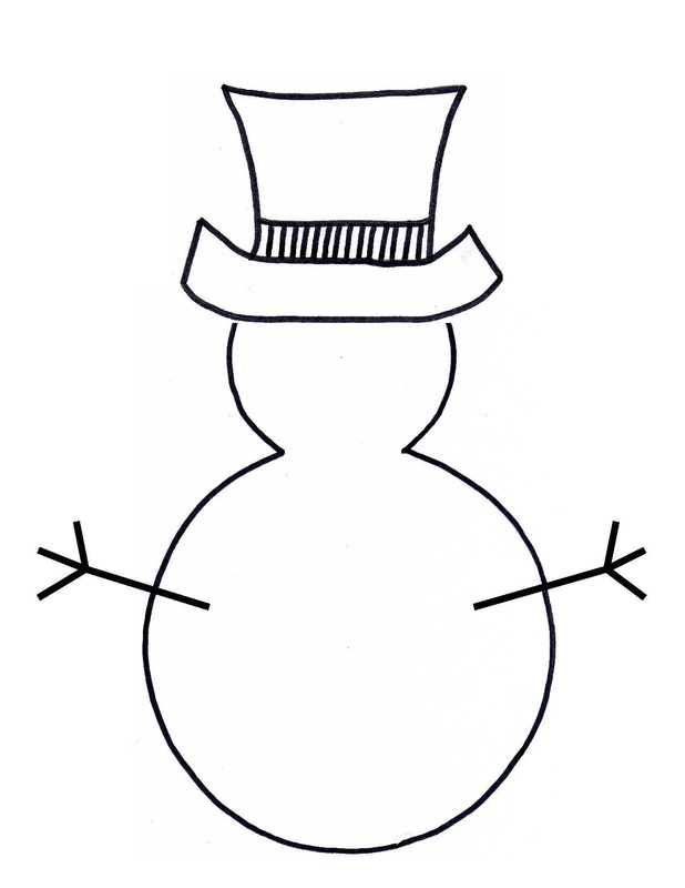Pics Photos Printable Snowman Template Christmas
