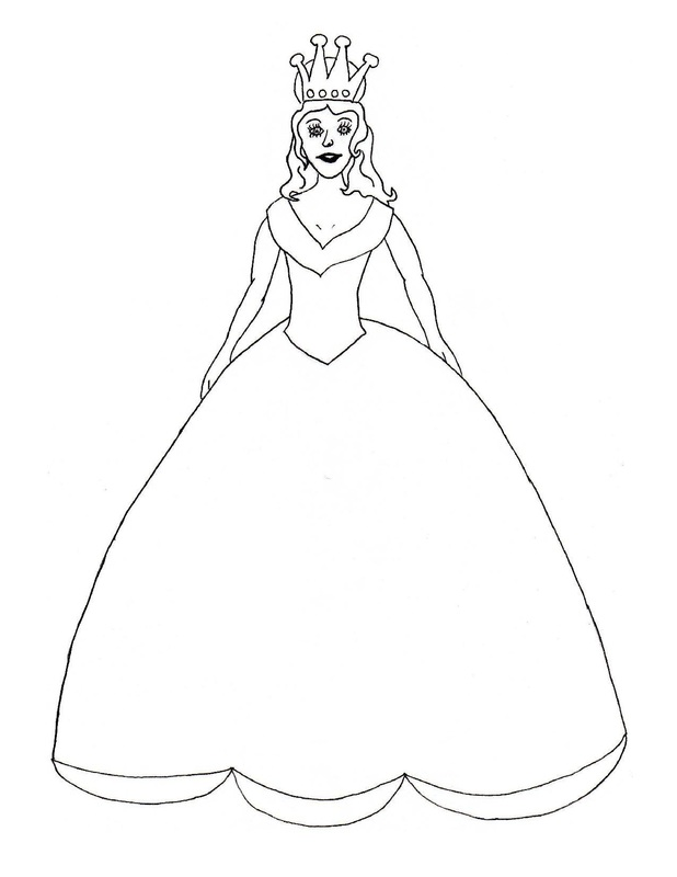 Princess Colouring Craft Craft N Home Princess Stencil Free Coloring Sheets