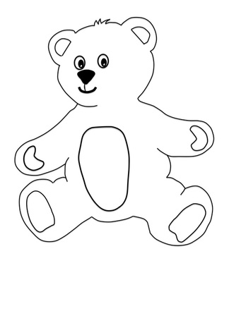 Printable Teddy Bear with Clothes craft for kids.
