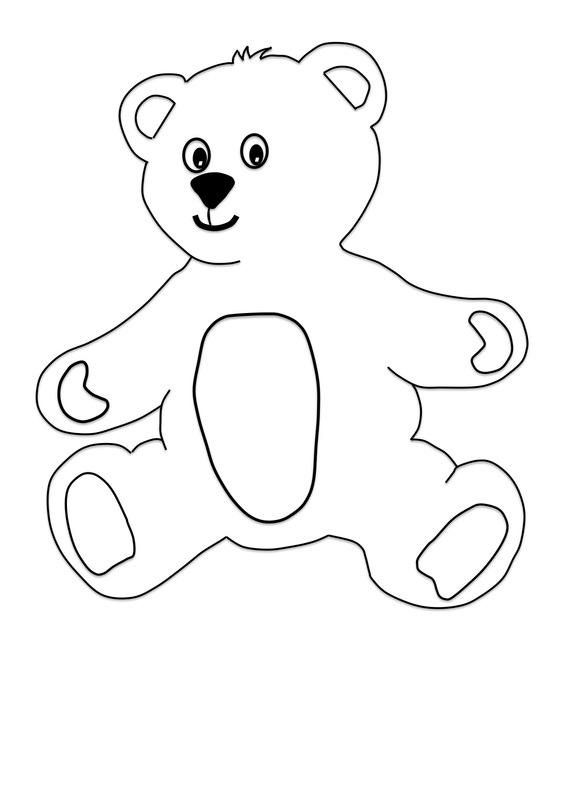 printable teddy bear with clothes craft for kids craft n home