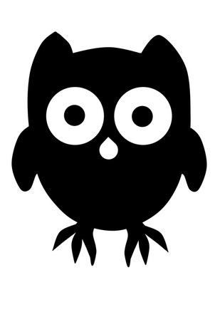 Free printable Owl Template for Kids art, craft and painting.