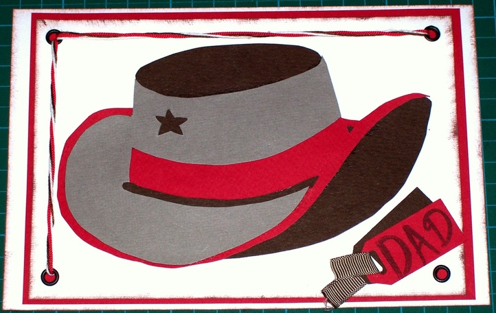 Printable templates to create a cowgirl or cowboy hat using three pieces of different coloured paper.  Use these hats to create cards or embellish scrapbook pages.