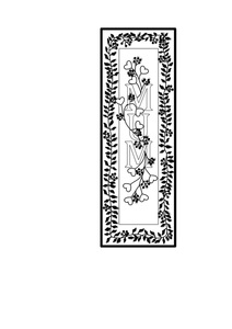 Free printable template for kids for a mothers day bookmark for mum. Colouring in.