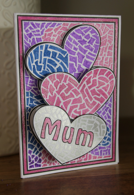 Free Printable Template for Mother's Day card craft for kids.