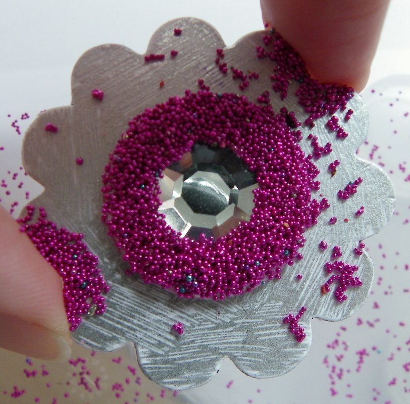 craft make your own scrapbooking embellishments using micro beads flowers