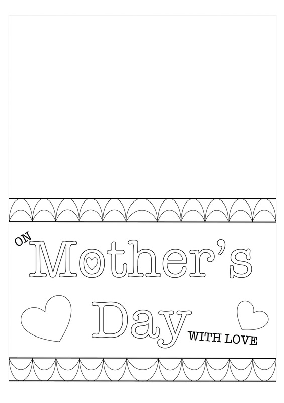 Printable Template For Mother'S Day Card Kids Craft - Craft 'N' Home