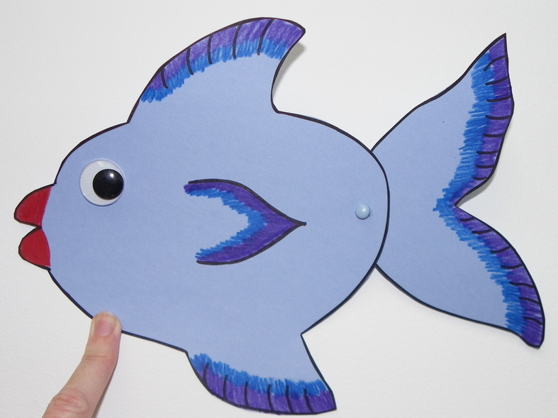 free preschooler craft with template for fish with moving tail