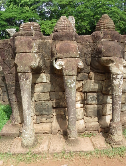 Cambodia Siem Reap TEmples Angkor Thom Terrace of the Elephants