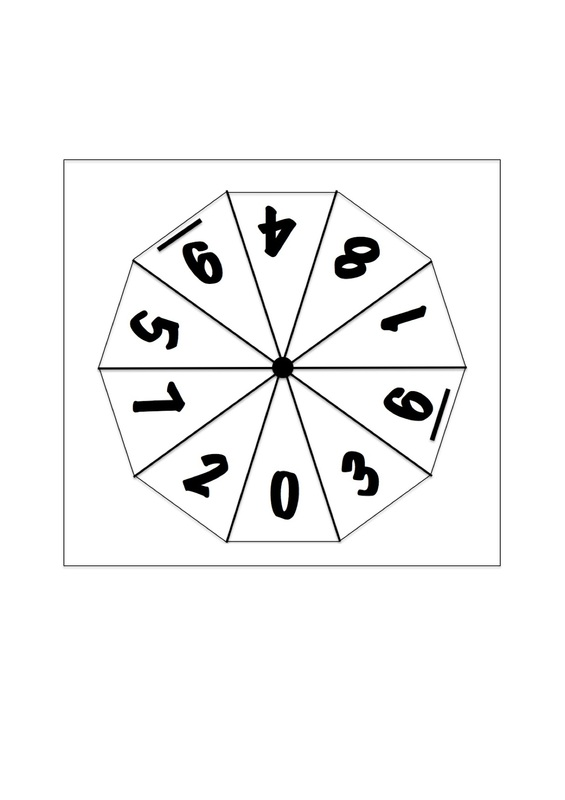Number Spinners For Maths - Craft 'N' Home