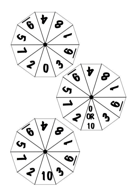 Ten Sided Number Wheels - Craft 'N' Home