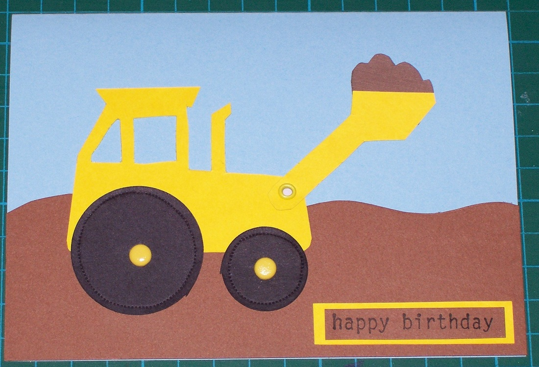 movable digger card for kids boys how to instructions craft