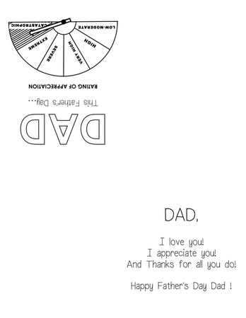 printable fathers day quarter fold card with free template for kids craft - appreciation