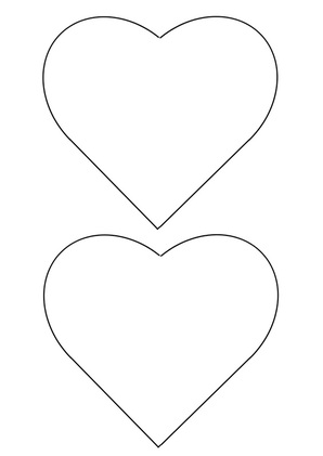 Free printable template and instructions for woven heart card.