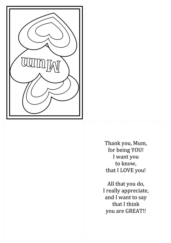 Free Printable Mothers Day Card Template for Kids