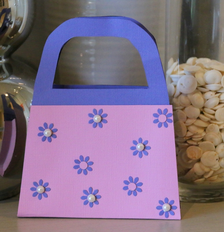 how to make a craft card handbag for party favours or gift bag
