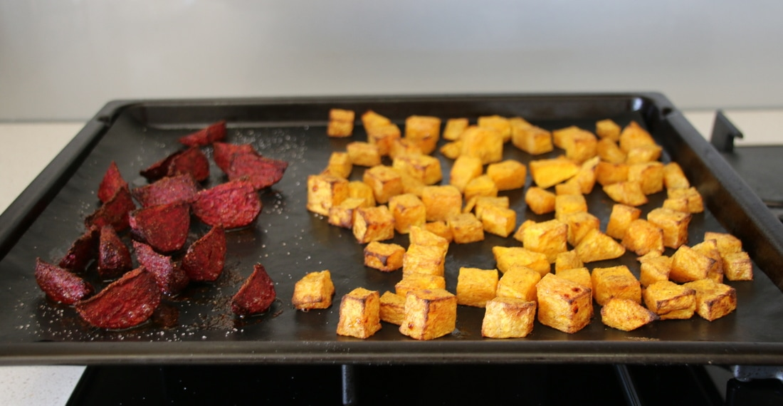 Roast Pumpkin Chunks for Salads. Recipe.