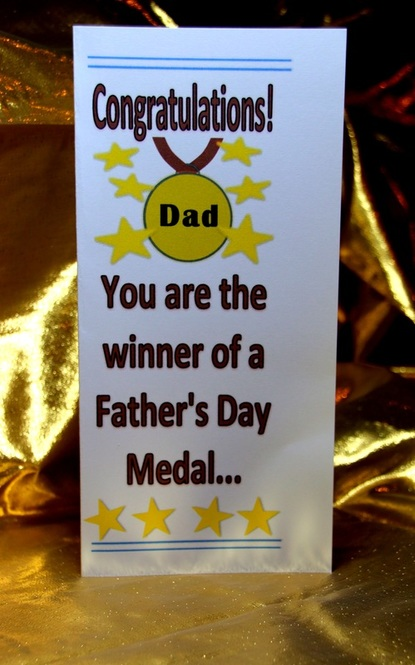 Printable Father's Day Card - Award Dad a medal . Free Craft Ideas for Kids.