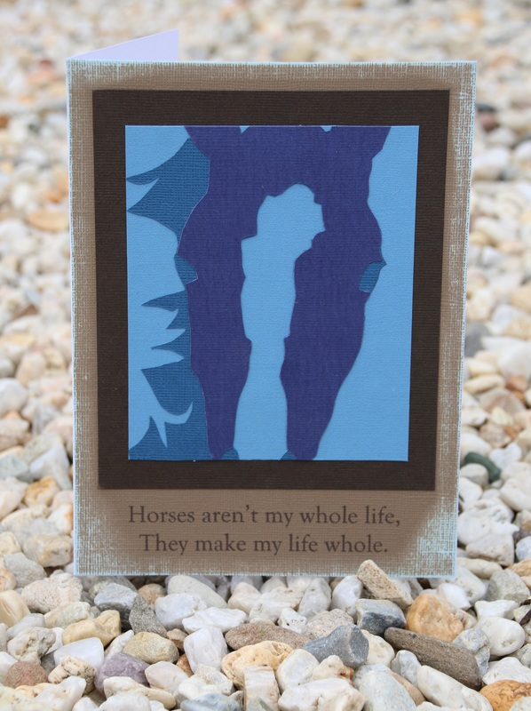Horse Silhouette Card using Paper Layering. Printable template included.