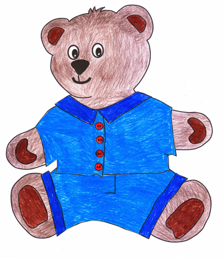 Free teddy bear craft for kids with template for bear and clothes