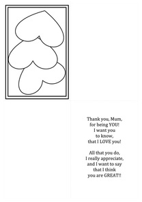 Free mother's day card printable template with instructions. Craft for kids.