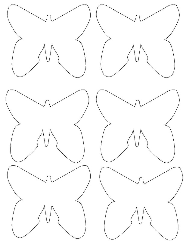 butterfly paper cut out template - balancing butterfly craft for kids