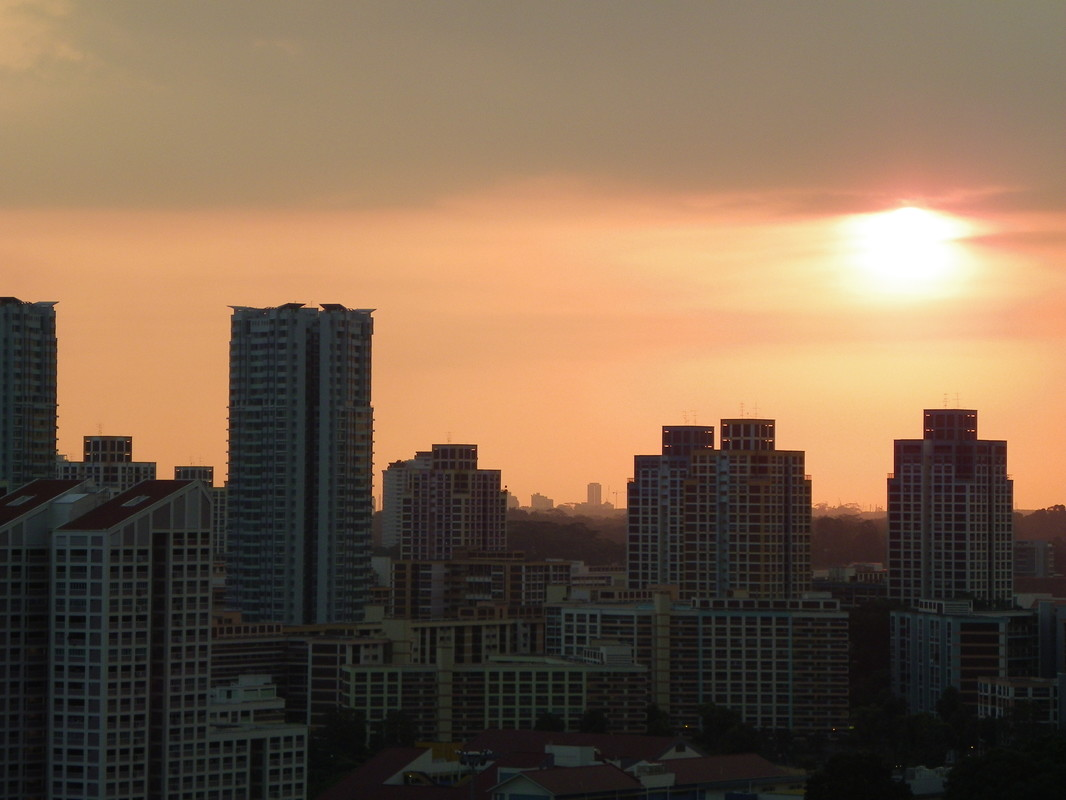 Sunset, Singapore, Bishan Area.