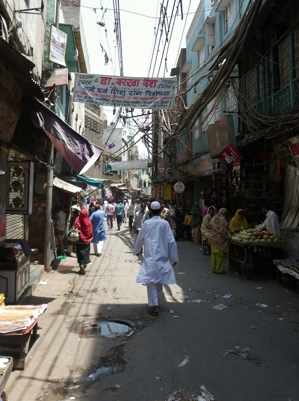 The Streets of Delhi, India.
