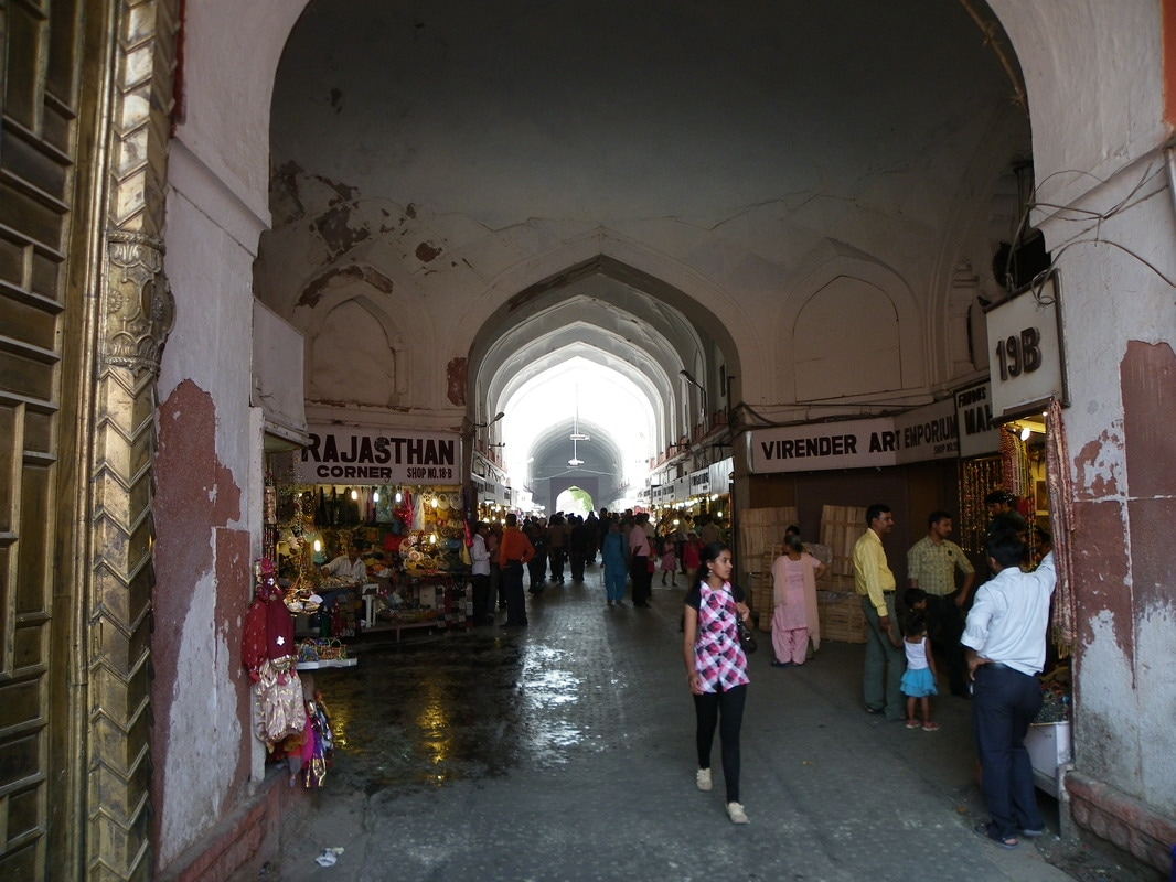 The Red Fort, Delhi, India. The Chhatta Chowk (Roofed Arcade).