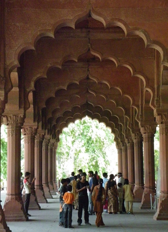 The Red Fort, Delhi, India. The Diwan-i-Aam (Hall of Public Audiences)