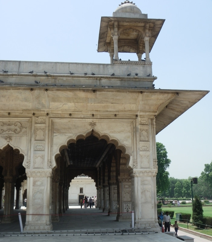 The Red Fort, Delhi, India. Diwan-i-Khas (Hall of Private Audiences).