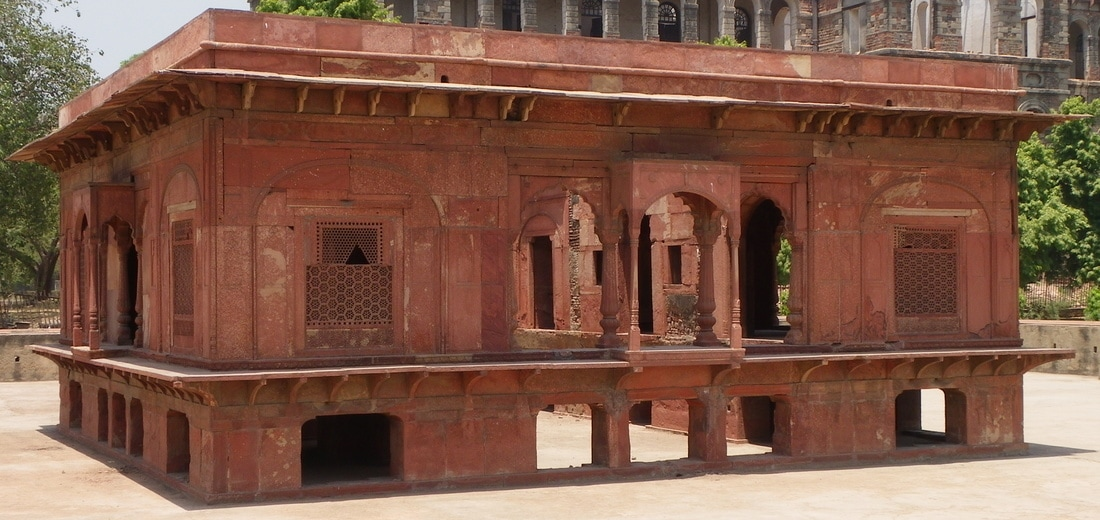 The Red Fort, Delhi, India. Zafar Mahal (Zafar's Palace).