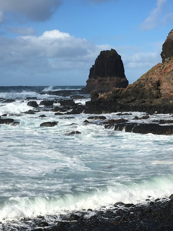 Pebble Beach, Cape Schanck, Mornington Peninsula, Victoria.