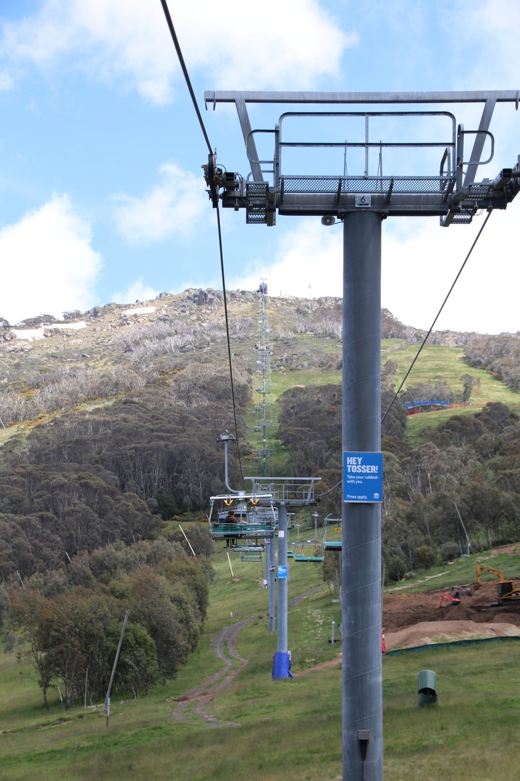 Lifts, Thredbo in Summer, Kosciuszko National Park, New South Wales, Australia