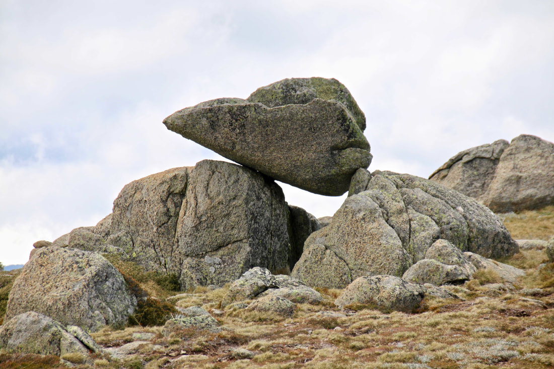 Thredbo in Summer, Kosciuszko National Park, New South Wales, Australia. Rock formations.