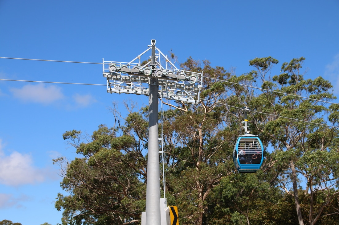 Eagle Skylift, Arthur's Seat, Mornington Peninsula, Victoria, Australia.