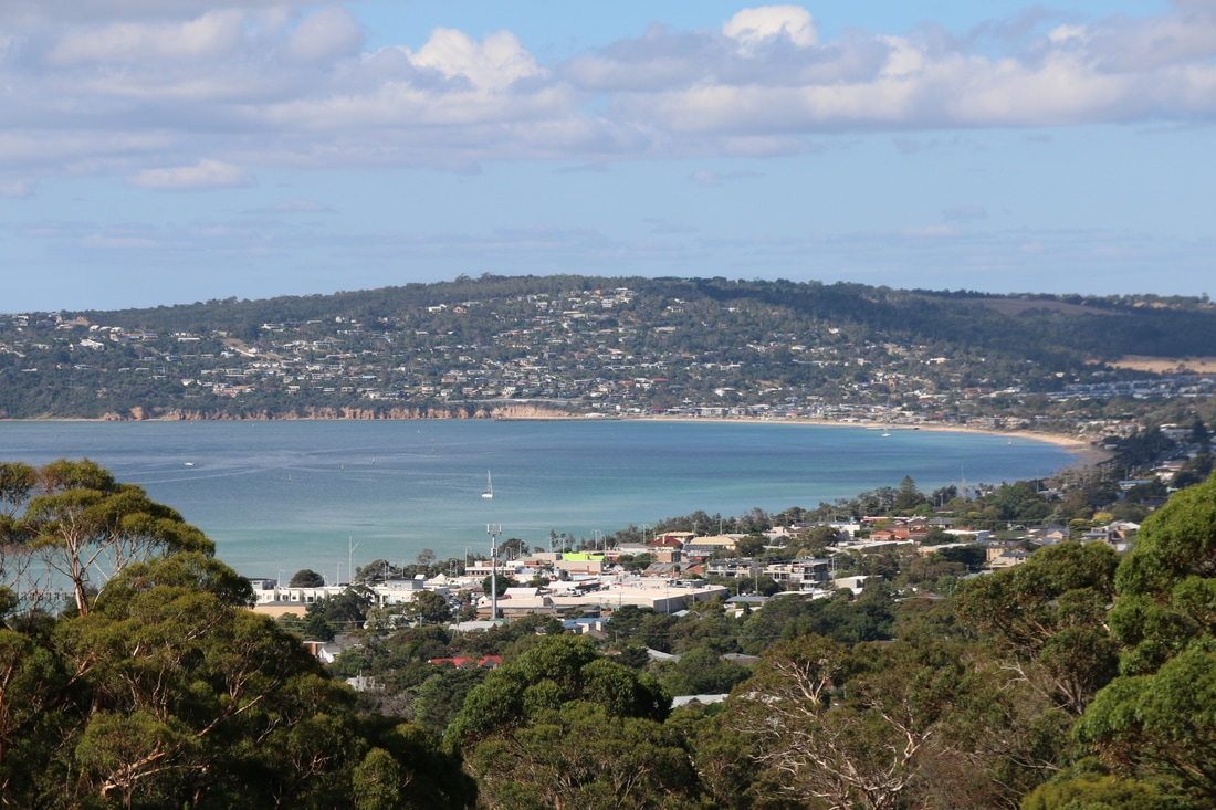 View from the Eagle Skylift, Arthur's Seat, Mornington Peninsula, Victoria, Australia.