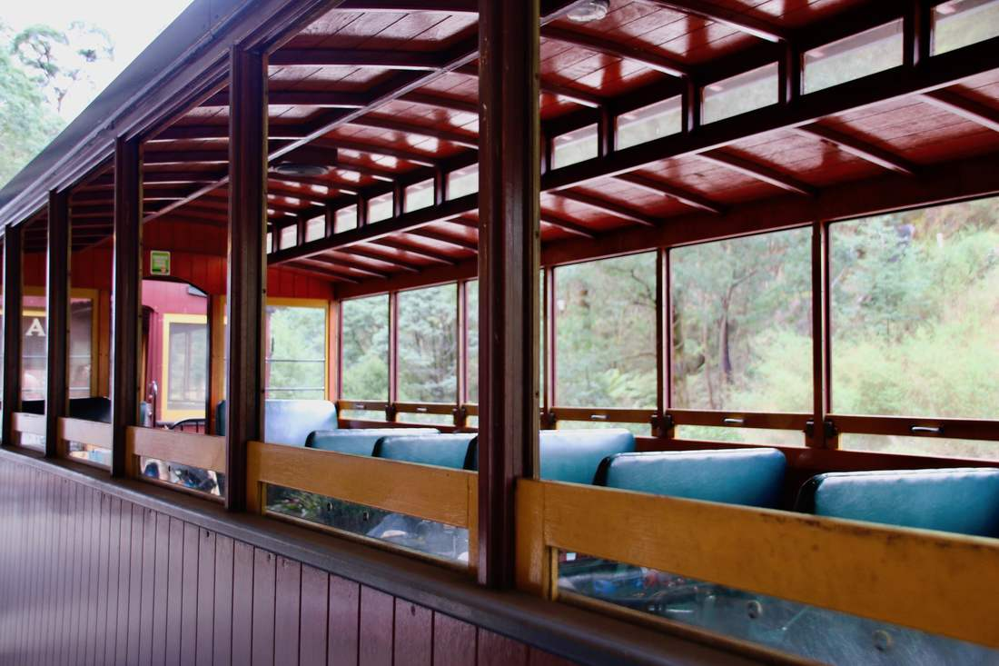 Train passenger carriage. Walhalla Goldfields Railway, Walhalla, Victoria, Australia