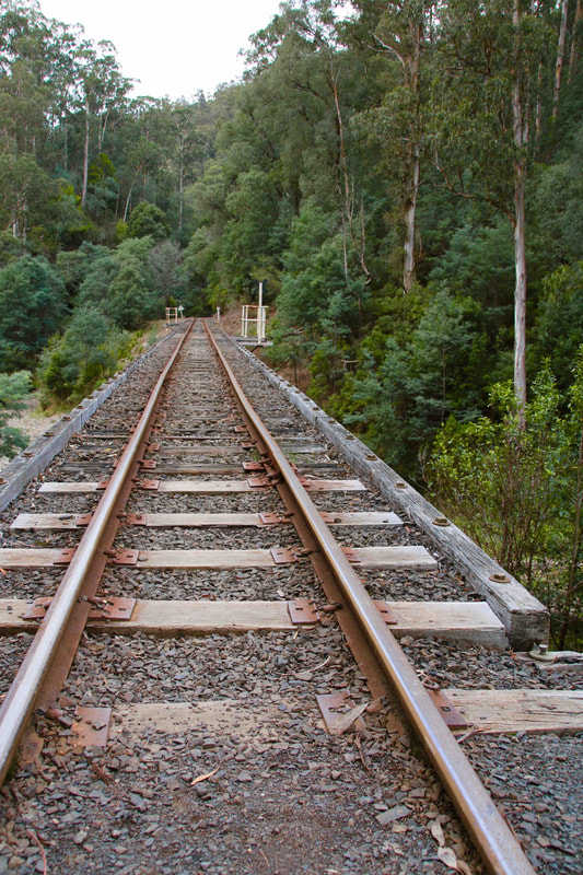 Walhalla Goldfields Railway, Thomson River railway bridge, Victoria, Australia