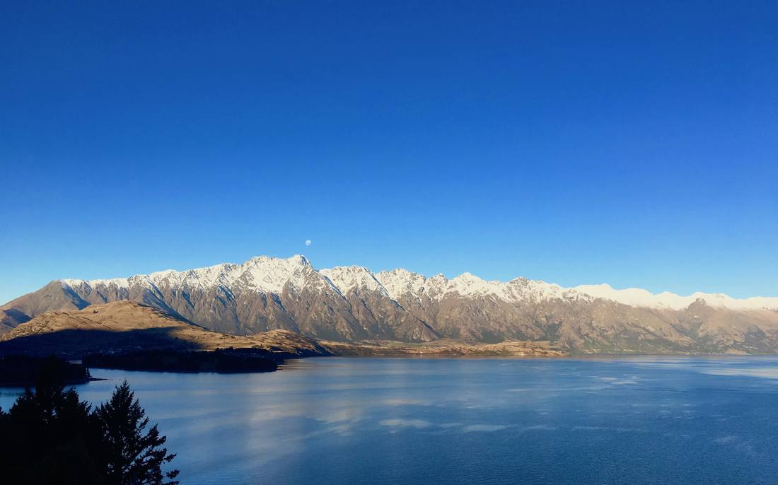View across Lake Wakatipu from Queenstown