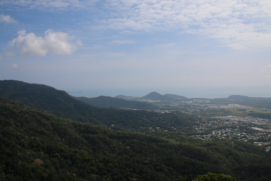 View over Cairns, The Skyrail Rainforest Cableway, Cairns to Kuranda, Queensland, Australia