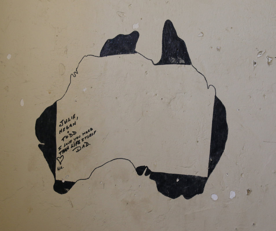 Cell with Painting on the Walls, Fremantle Prison,  Fremantle, Western Australia