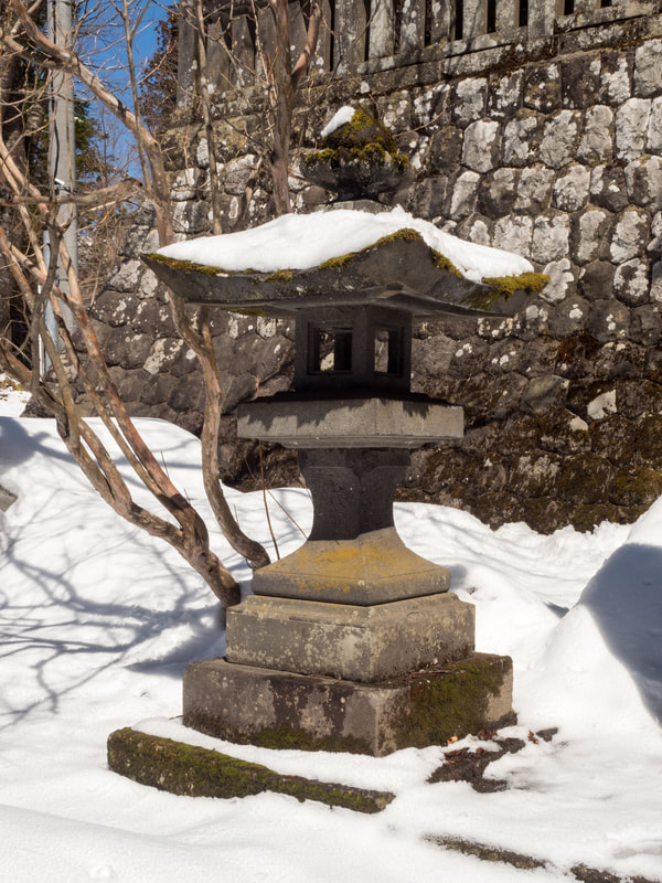 Part of the Middle Togakushi Shrine Gate entrance. Togakushi Middle Shrine. Mount Togakushi, Nagano Prefecture, Japan.