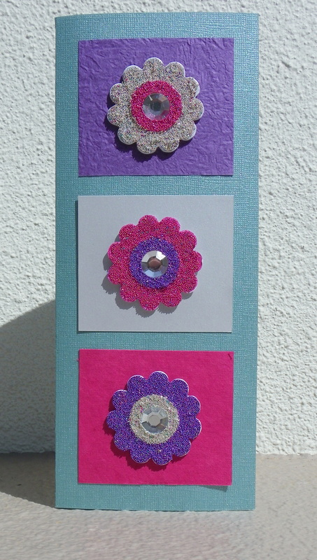 Free instructions on how to make a micro-bead embellishment flower card Card Making