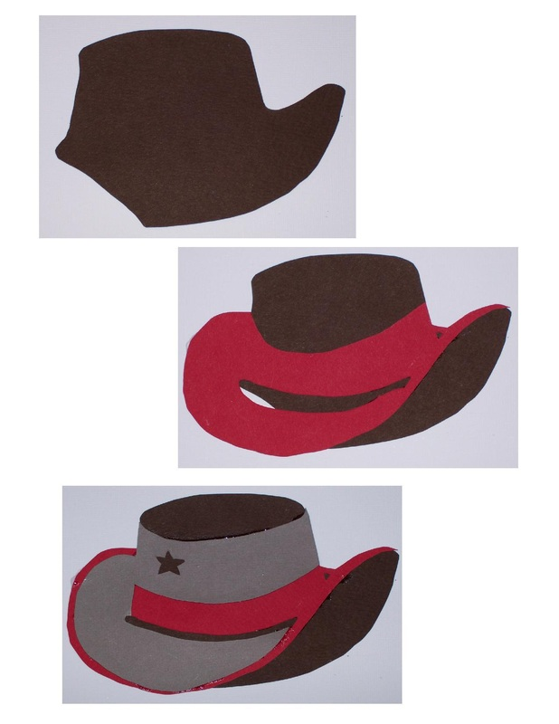 Cowboy, Cowgirl card instructions with free printable template. Card making craft instructions.