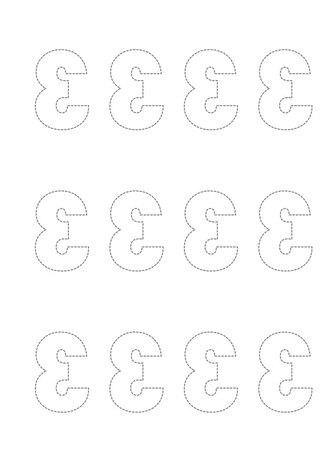 Free Printable Templates of reversed numbers and letters for card making and scrapbooking