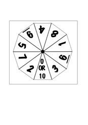 How to make a number spinner 0 to 10 for maths with template