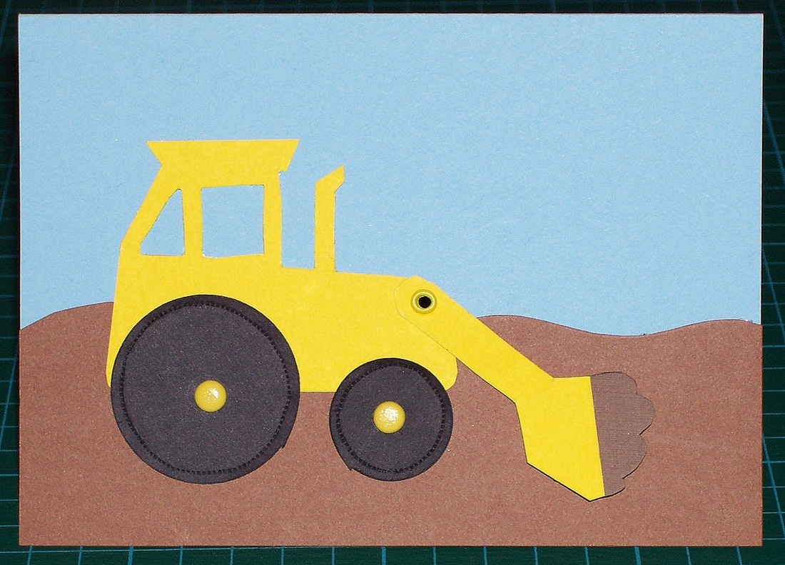 How To Make A Digger Card For Kids With Moving Parts