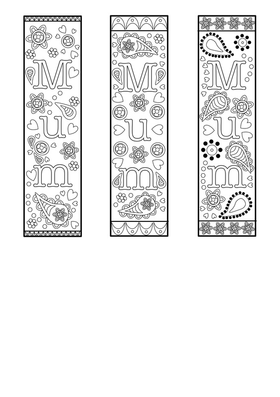 Free Printable bookmark template for mothers day or mum. For ...
